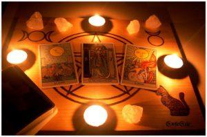 tarot tirada altar velas